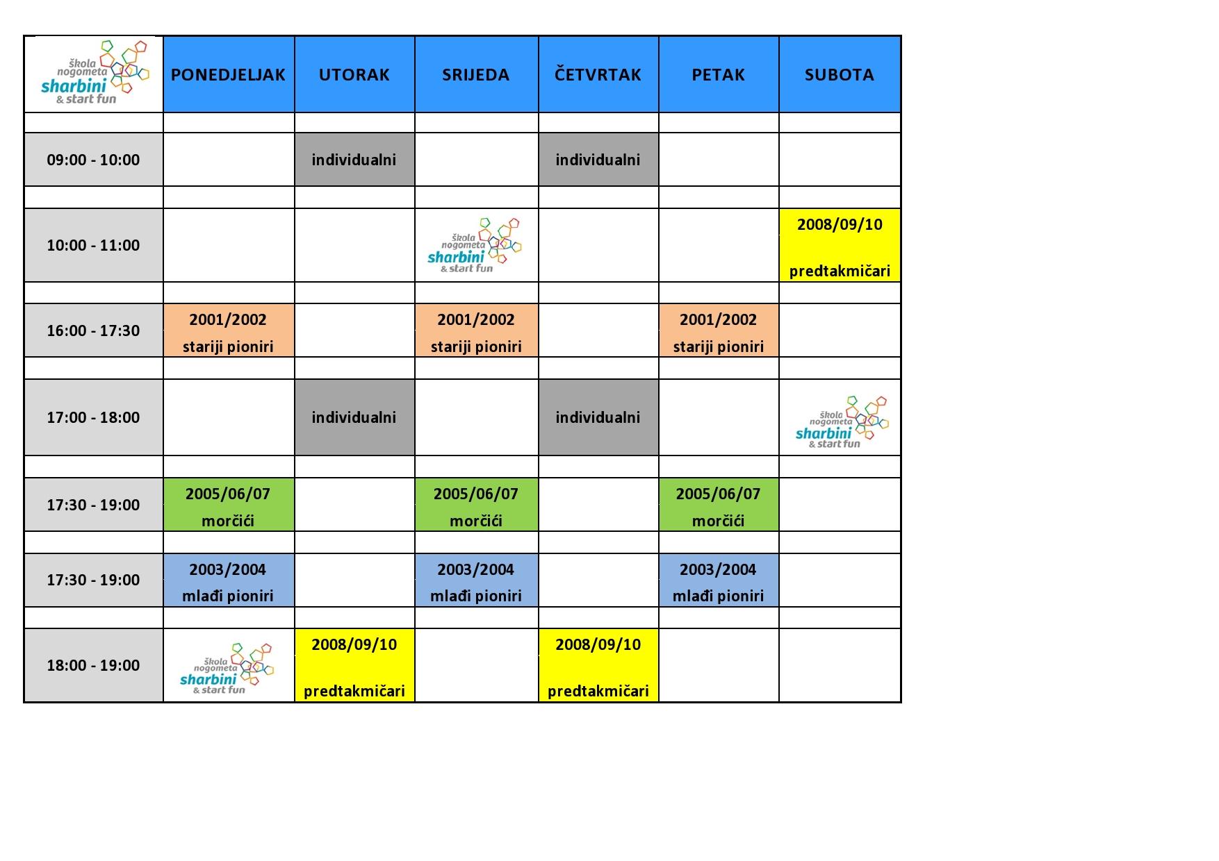 škola nogometa raspored za web-page slika